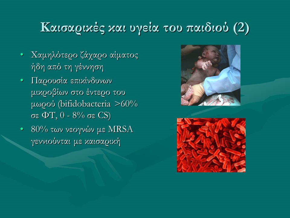 Καισαρικές και υγεία του παιδιού (2)