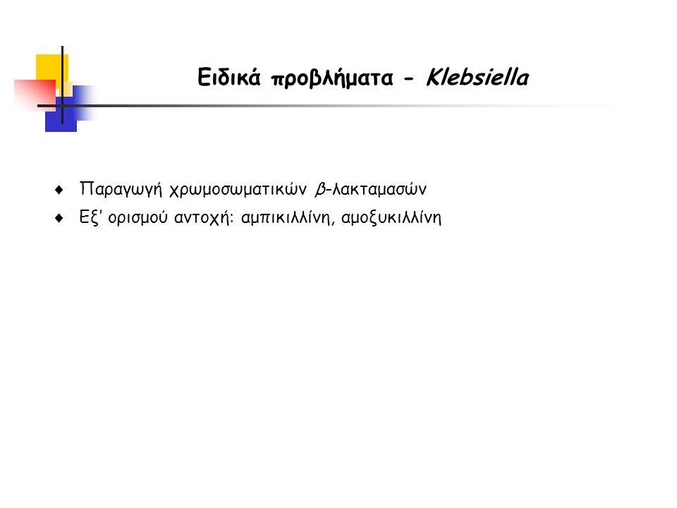 Ειδικά προβλήματα - Klebsiella