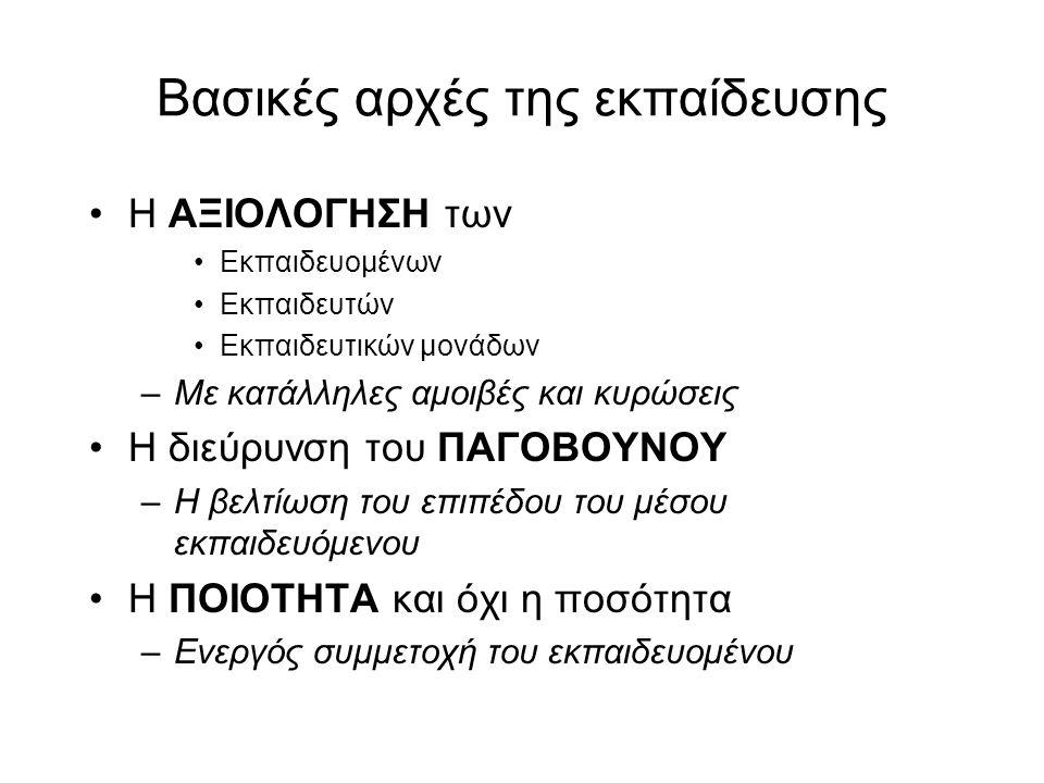 Βασικές αρχές της εκπαίδευσης