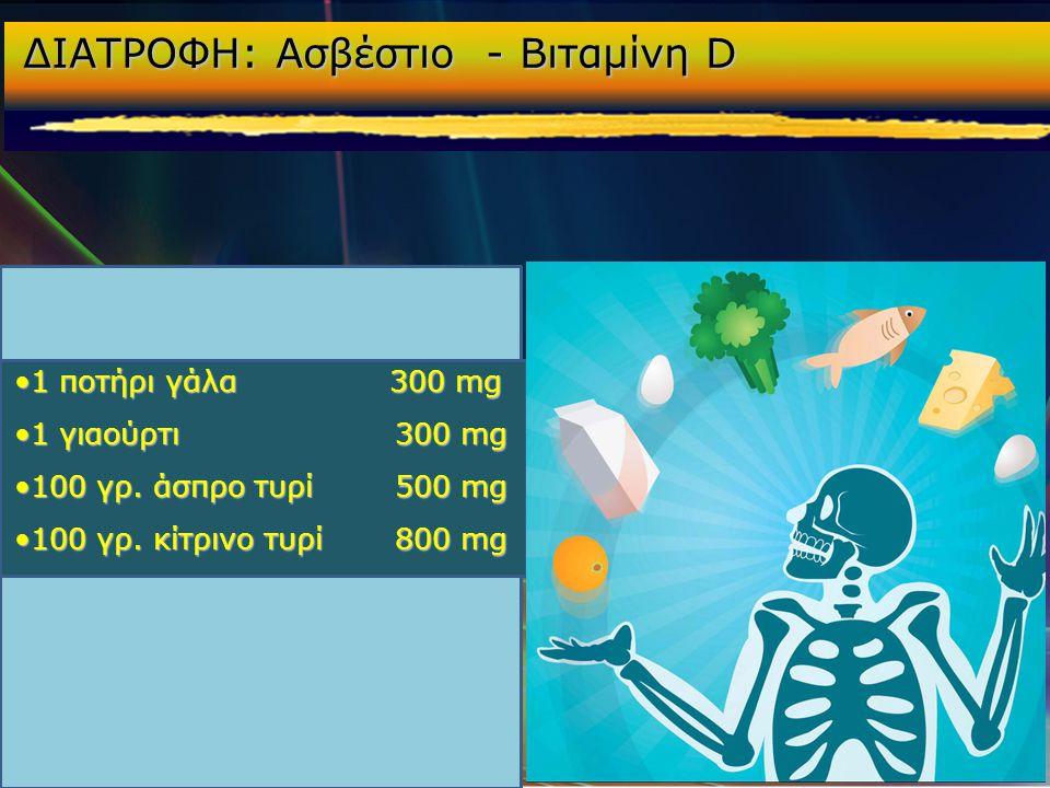 ΔΙΑΤΡΟΦΗ: Ασβέστιο - Βιταμίνη D