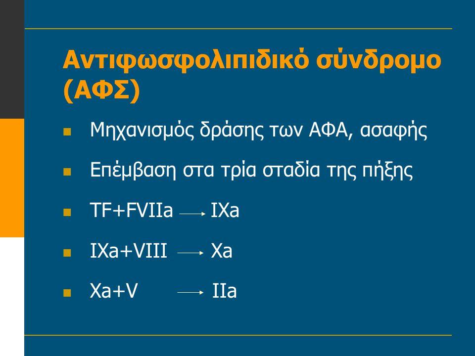 Αντιφωσφολιπιδικό σύνδρομο (ΑΦΣ)