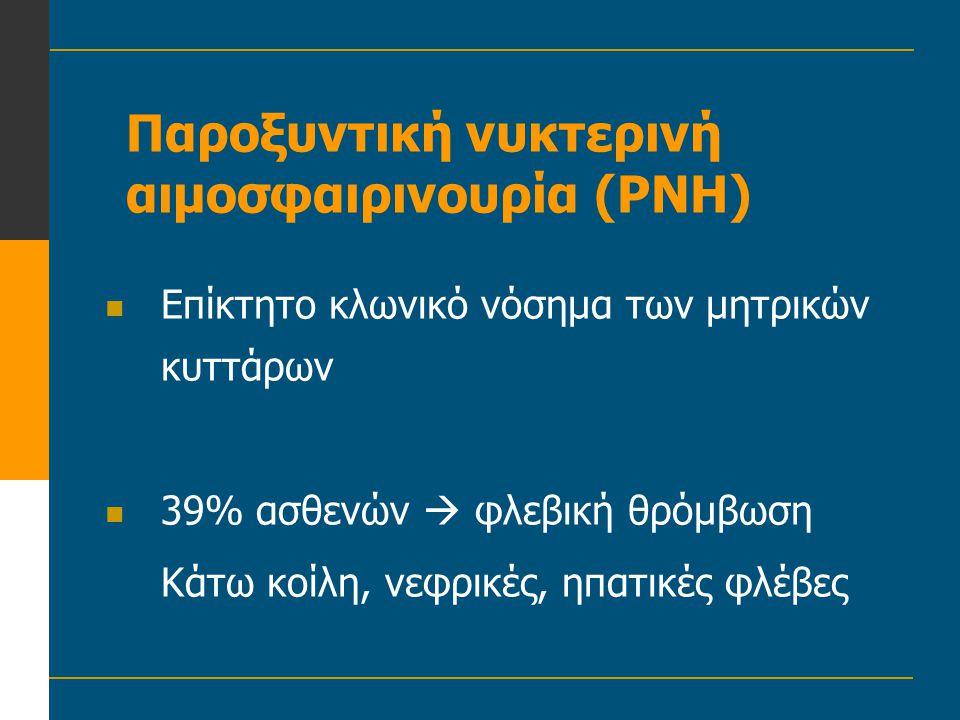 Παροξυντική νυκτερινή αιμοσφαιρινουρία (PNH)