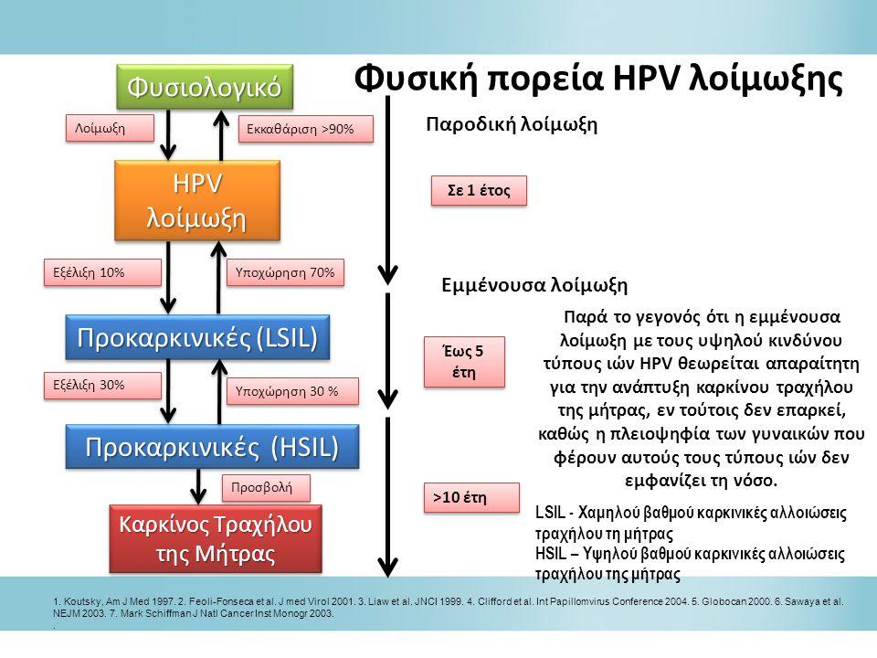 Φυσική πορεία HPV λοίμωξης