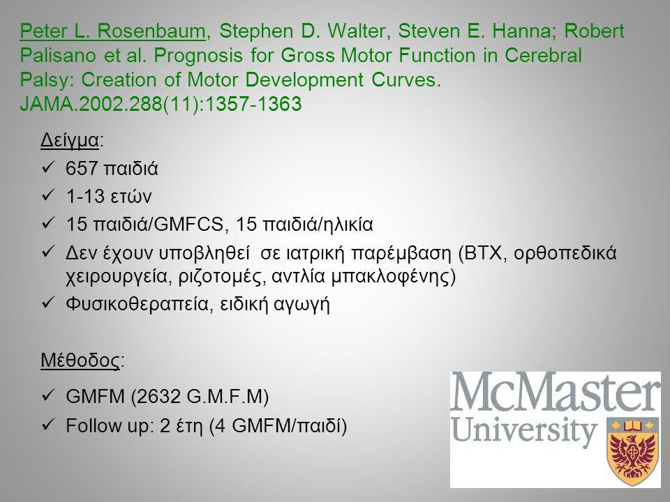 Peter L. Rosenbaum, Stephen D. Walter, Steven E
