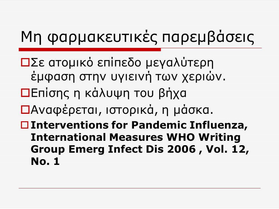 Μη φαρμακευτικές παρεμβάσεις
