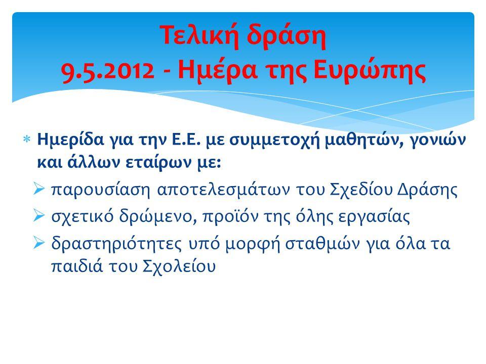 Τελική δράση 9.5.2012 - Ημέρα της Ευρώπης