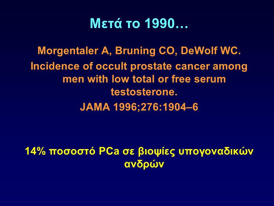 Μετά το 1990… Morgentaler A, Bruning CO, DeWolf WC.