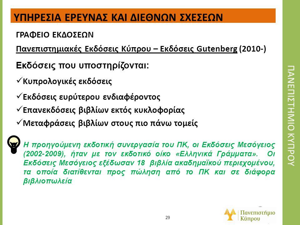 Πανεπιςτημιακες Εκδοςεις Κυπρου