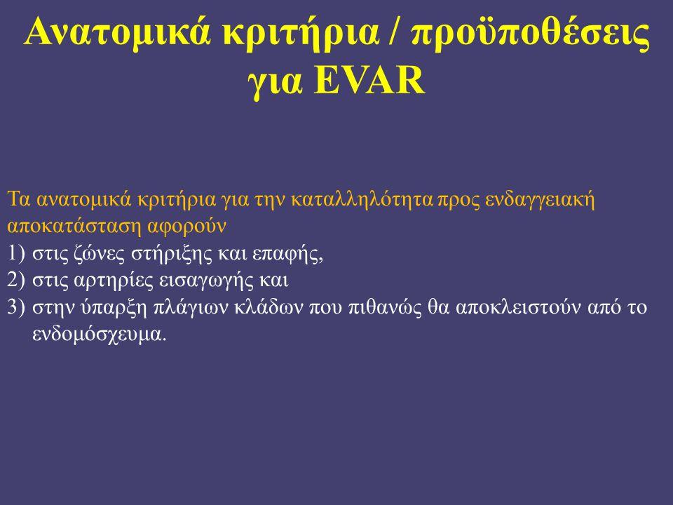 Ανατομικά κριτήρια / προϋποθέσεις για EVAR