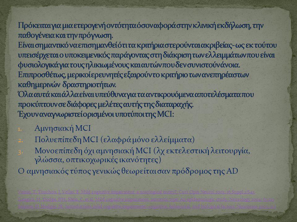 Πολυεπίπεδη MCI (ελαφρά μόνο ελλείμματα)