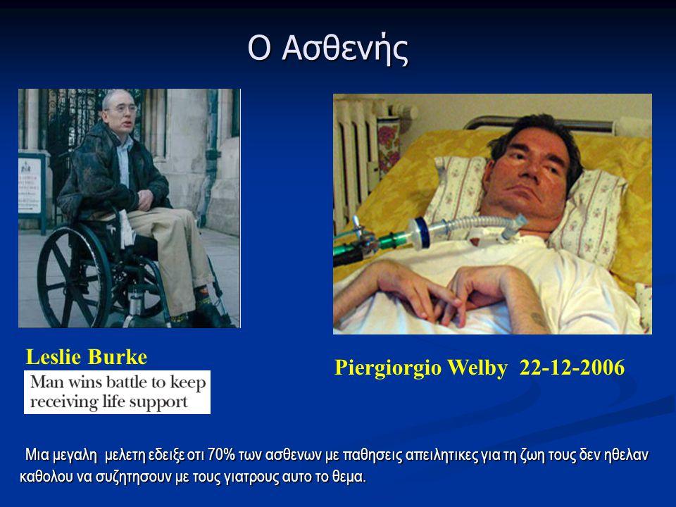 Ο Ασθενής Leslie Burke Piergiorgio Welby 22-12-2006
