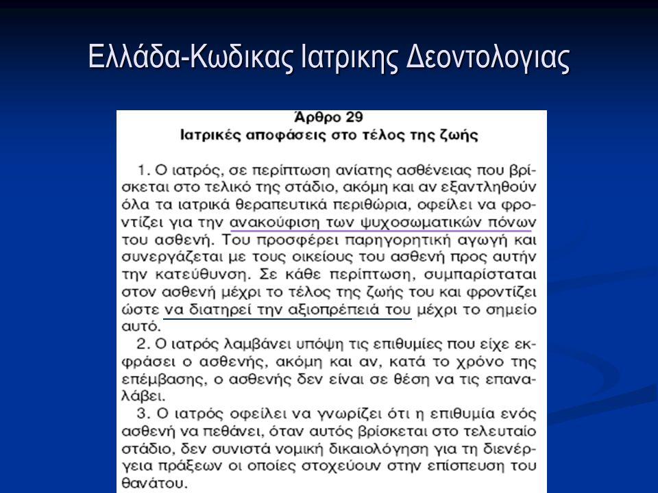 Ελλάδα-Κωδικας Ιατρικης Δεοντολογιας