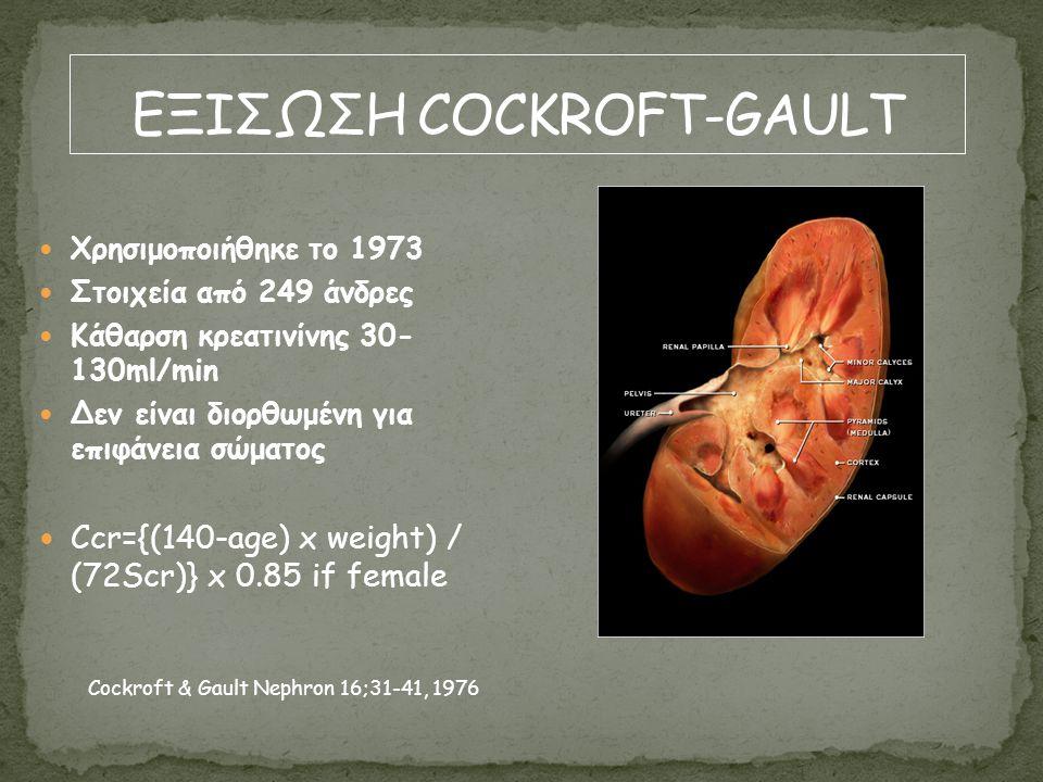 ΕΞΙΣΩΣΗ COCKROFT-GAULT