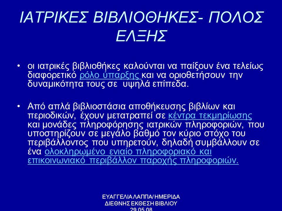 ΙΑΤΡΙΚΕΣ ΒΙΒΛΙΟΘΗΚΕΣ- ΠΟΛΟΣ ΕΛΞΗΣ