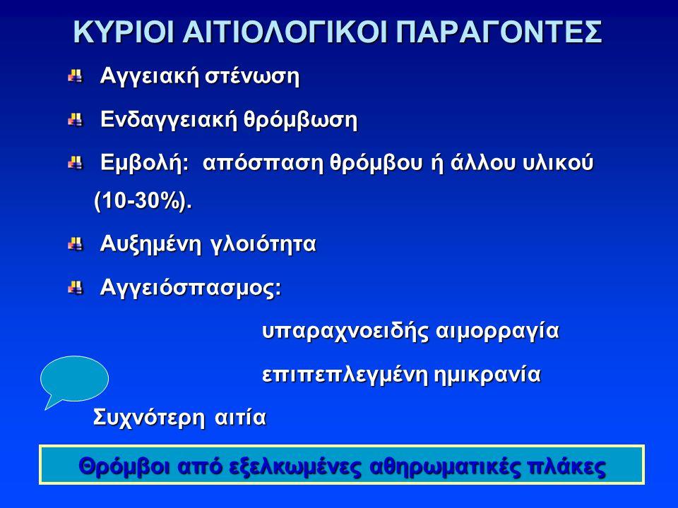 ΚΥΡΙΟΙ ΑΙΤΙΟΛΟΓΙΚΟΙ ΠΑΡΑΓΟΝΤΕΣ