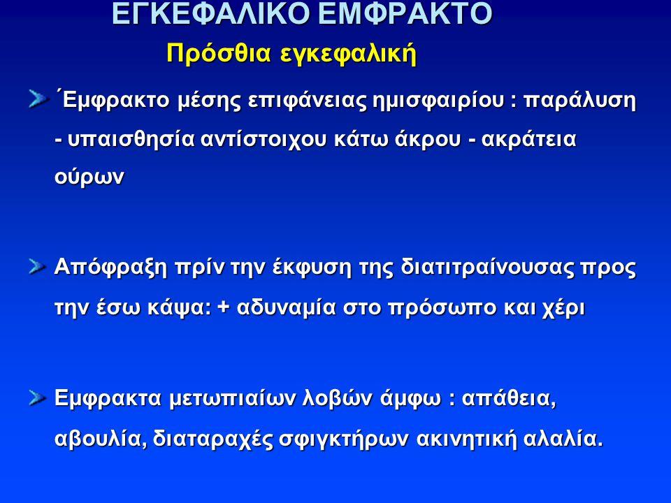 ΕΓΚΕΦΑΛΙΚΟ ΕΜΦΡΑΚΤΟ Πρόσθια εγκεφαλική