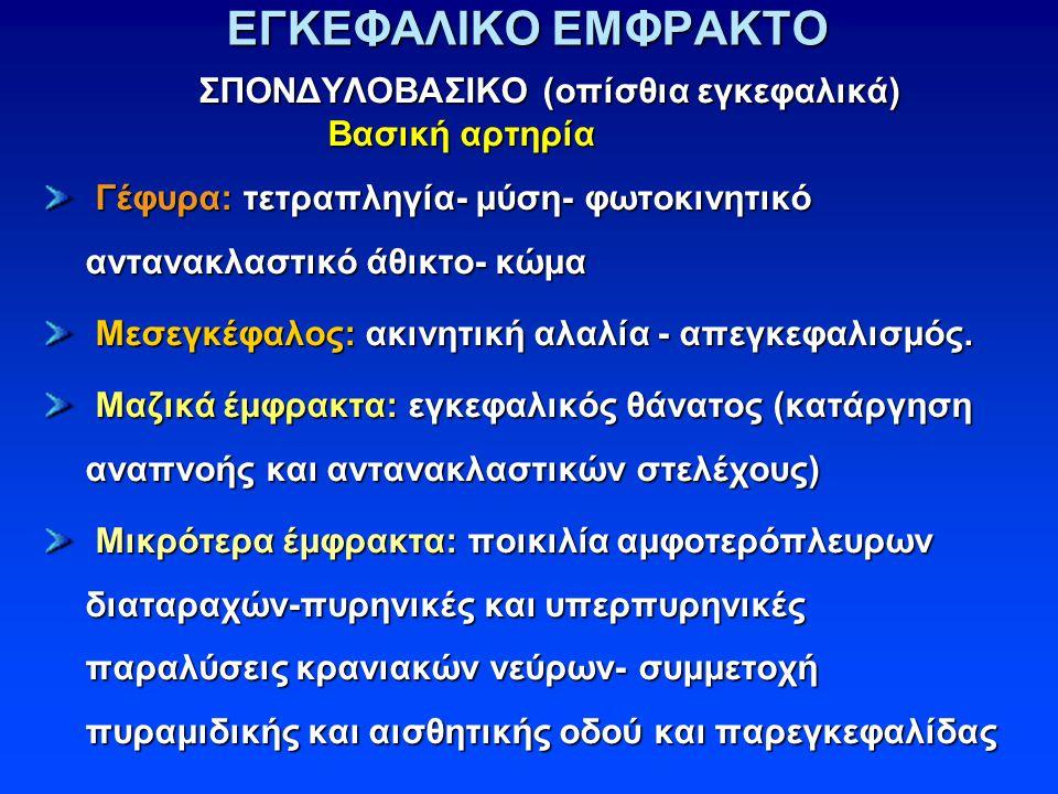 ΕΓΚΕΦΑΛΙΚΟ ΕΜΦΡΑΚΤΟ Βασική αρτηρία