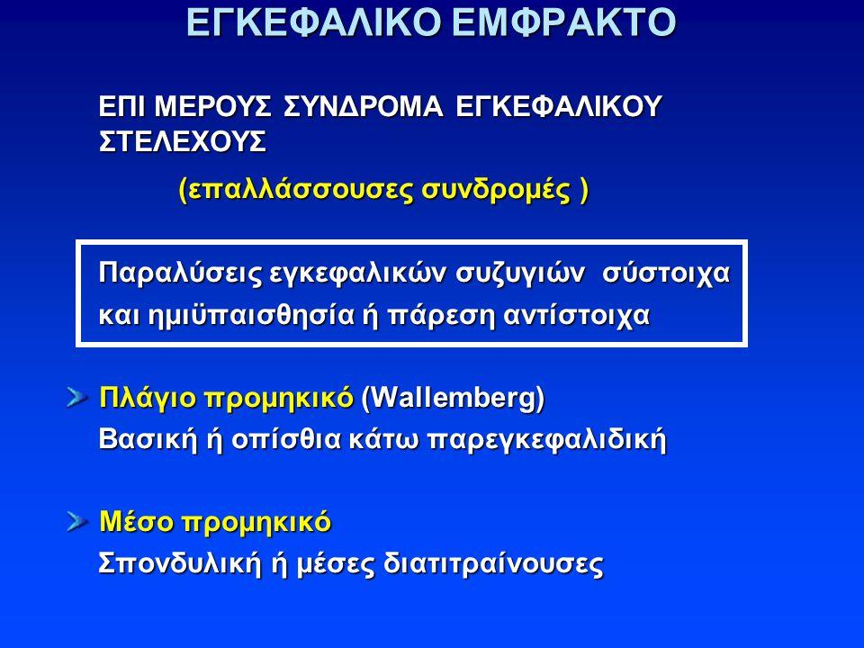 ΕΓΚΕΦΑΛΙΚΟ ΕΜΦΡΑΚΤΟ (επαλλάσσουσες συνδρομές )