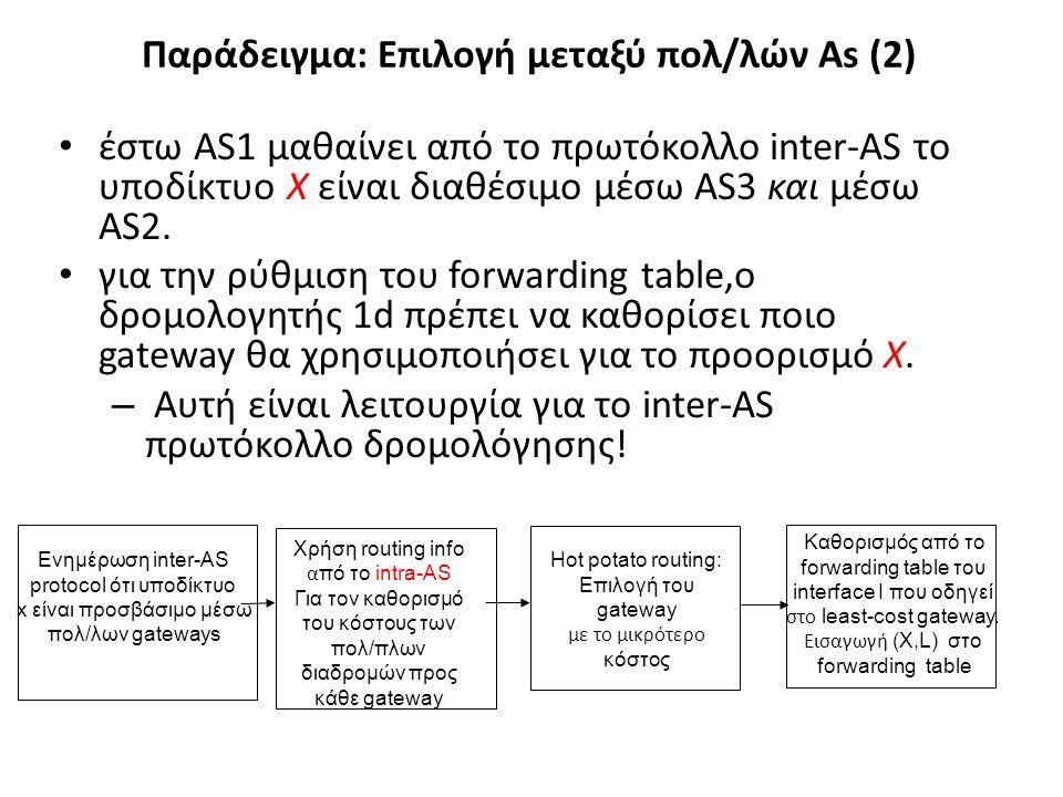 Παράδειγμα: Επιλογή μεταξύ πολ/λών As (2)