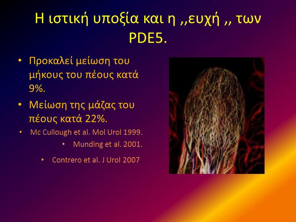 Η ιστική υποξία και η ,,ευχή ,, των PDE5.