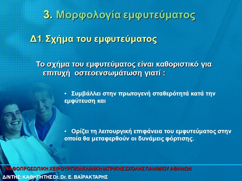 3. Μορφολογία εμφυτεύματος