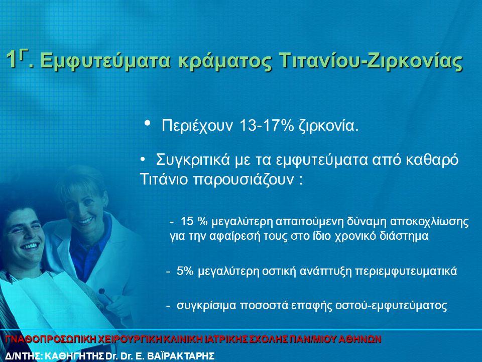 1Γ. Εμφυτεύματα κράματος Τιτανίου-Ζιρκονίας