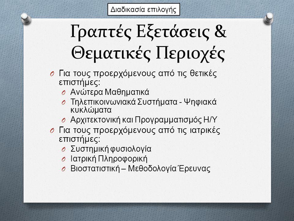 Γραπτές Εξετάσεις & Θεματικές Περιοχές