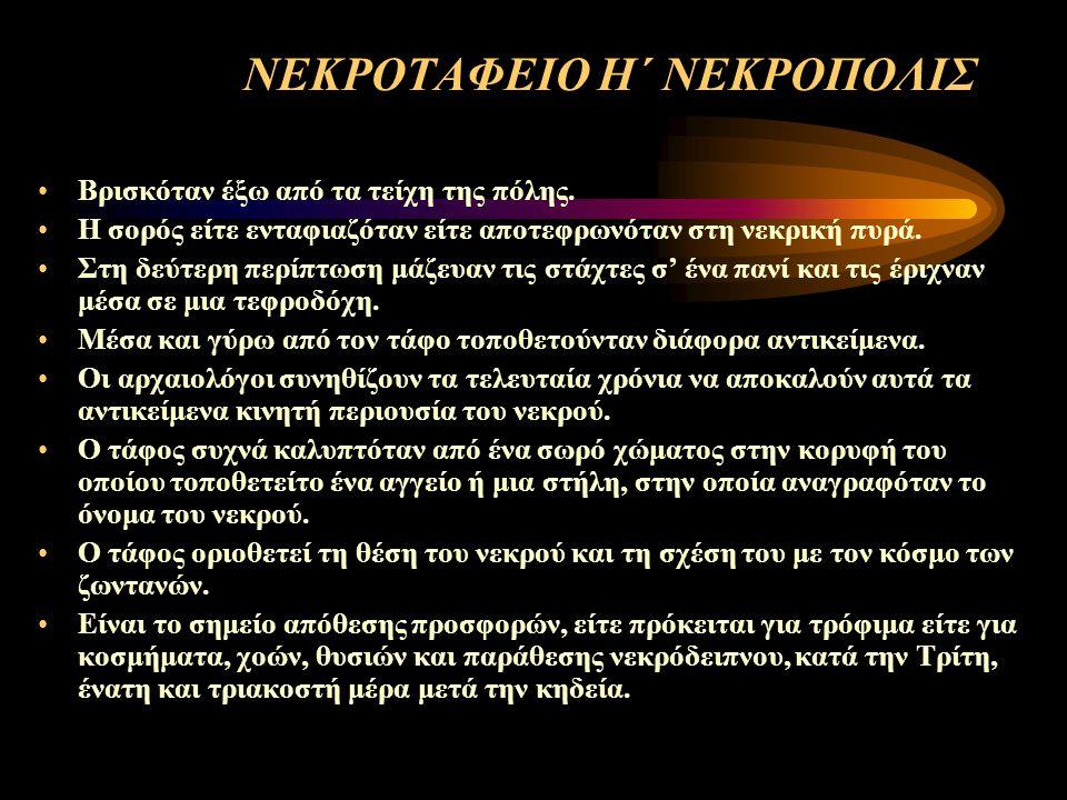 ΝΕΚΡΟΤΑΦΕΙΟ Η΄ ΝΕΚΡΟΠΟΛΙΣ