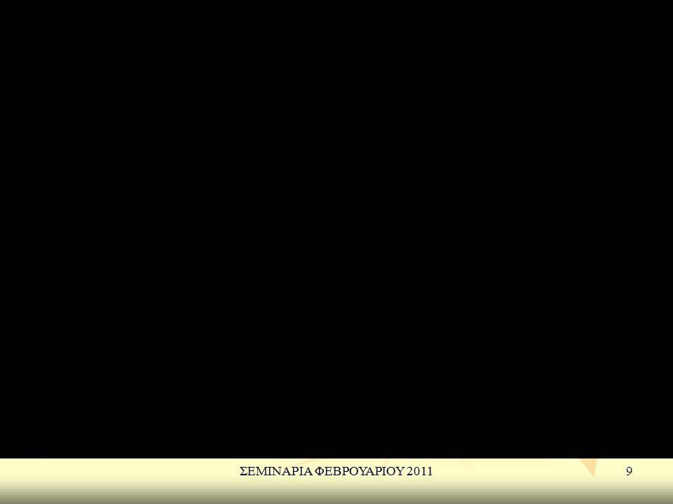 ΣΕΜΙΝΑΡΙΑ ΦΕΒΡΟΥΑΡΙΟΥ 2011 ΣΕΜΙΝΑΡΙΑ ΦΕΒΡΟΥΑΡΙΟΥ 2011
