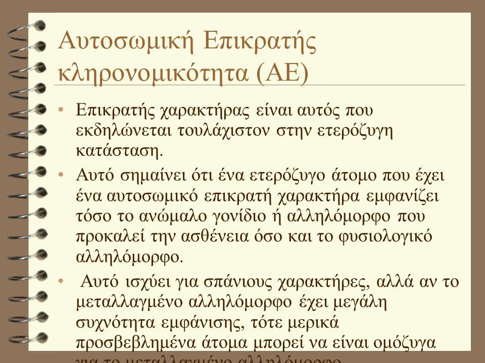 Αυτοσωμική Επικρατής κληρονομικότητα (ΑΕ)