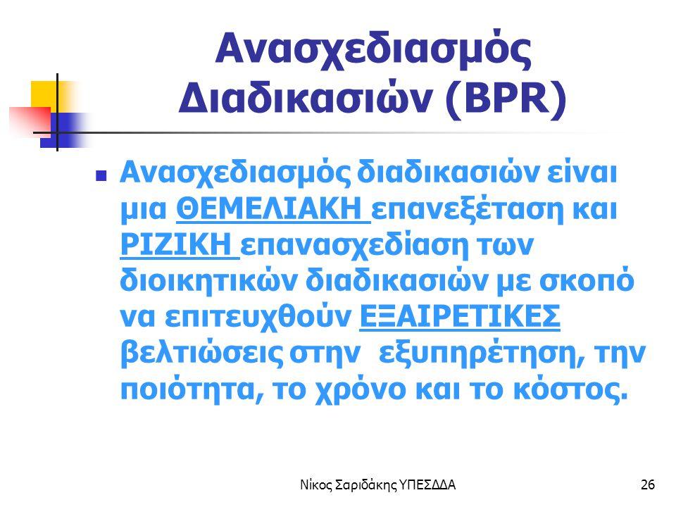Ανασχεδιασμός Διαδικασιών (BPR)
