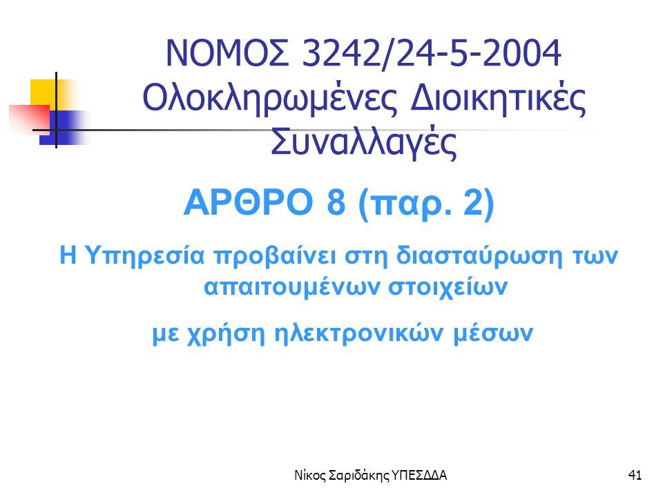 ΝΟΜΟΣ 3242/24-5-2004 Ολοκληρωμένες Διοικητικές Συναλλαγές