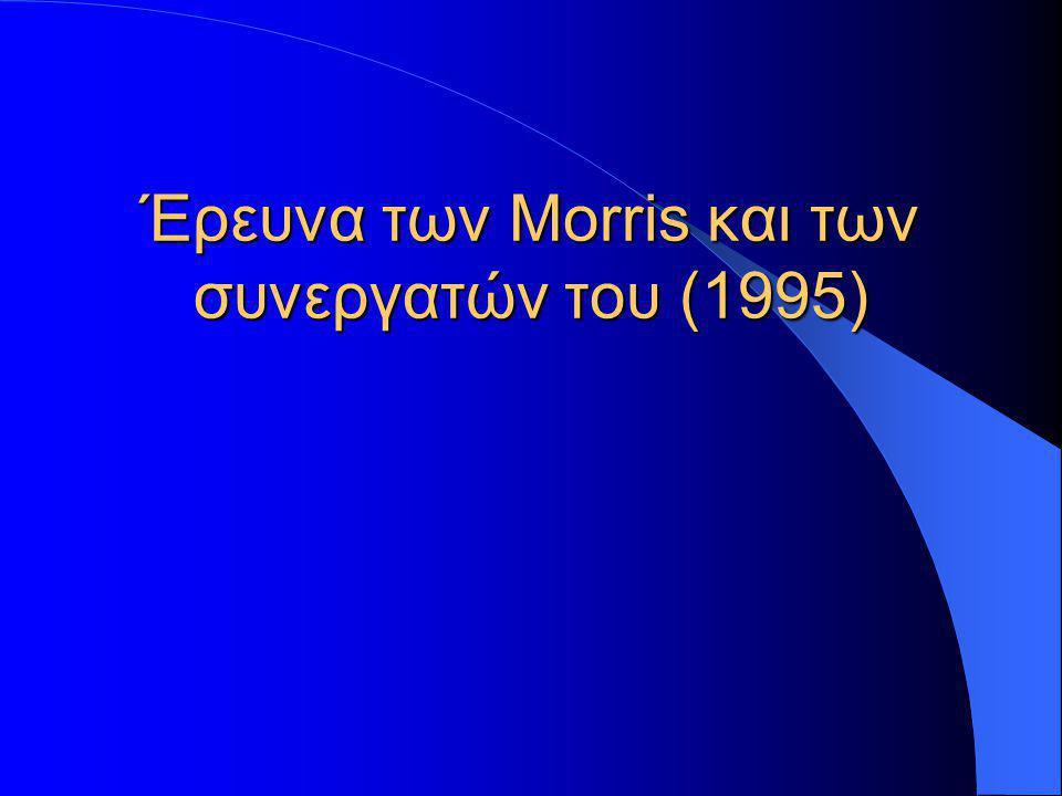 Έρευνα των Morris και των συνεργατών του (1995)