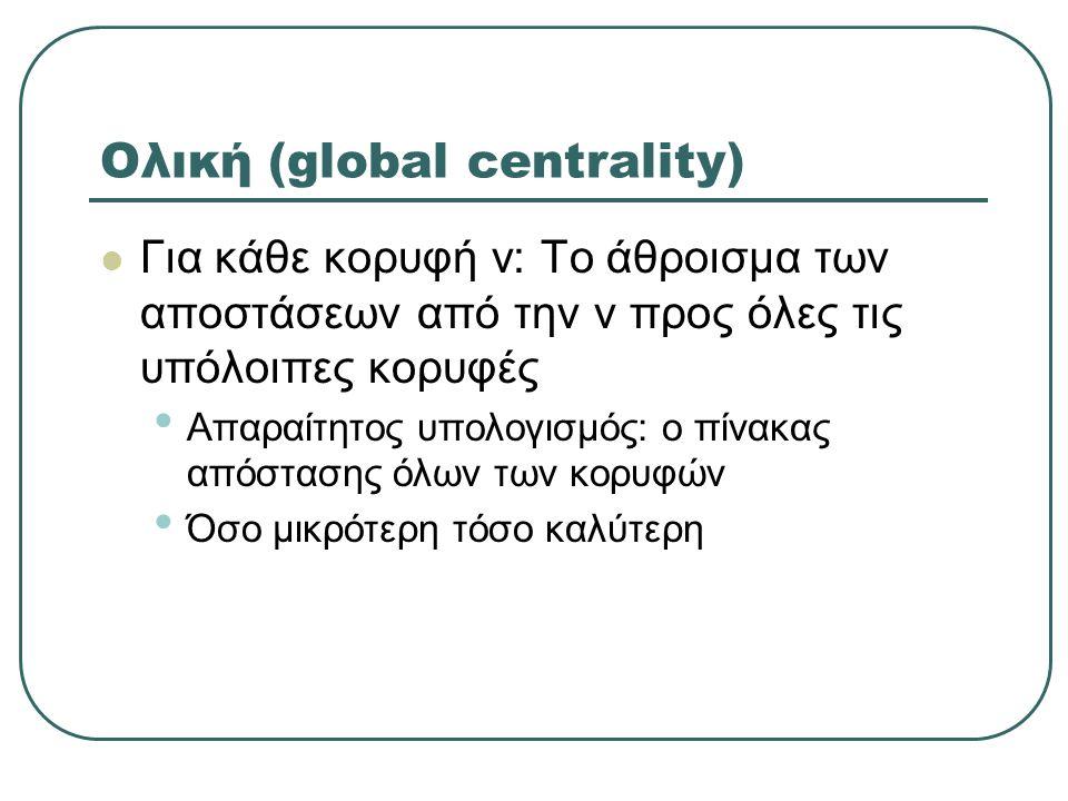 Ολική (global centrality)