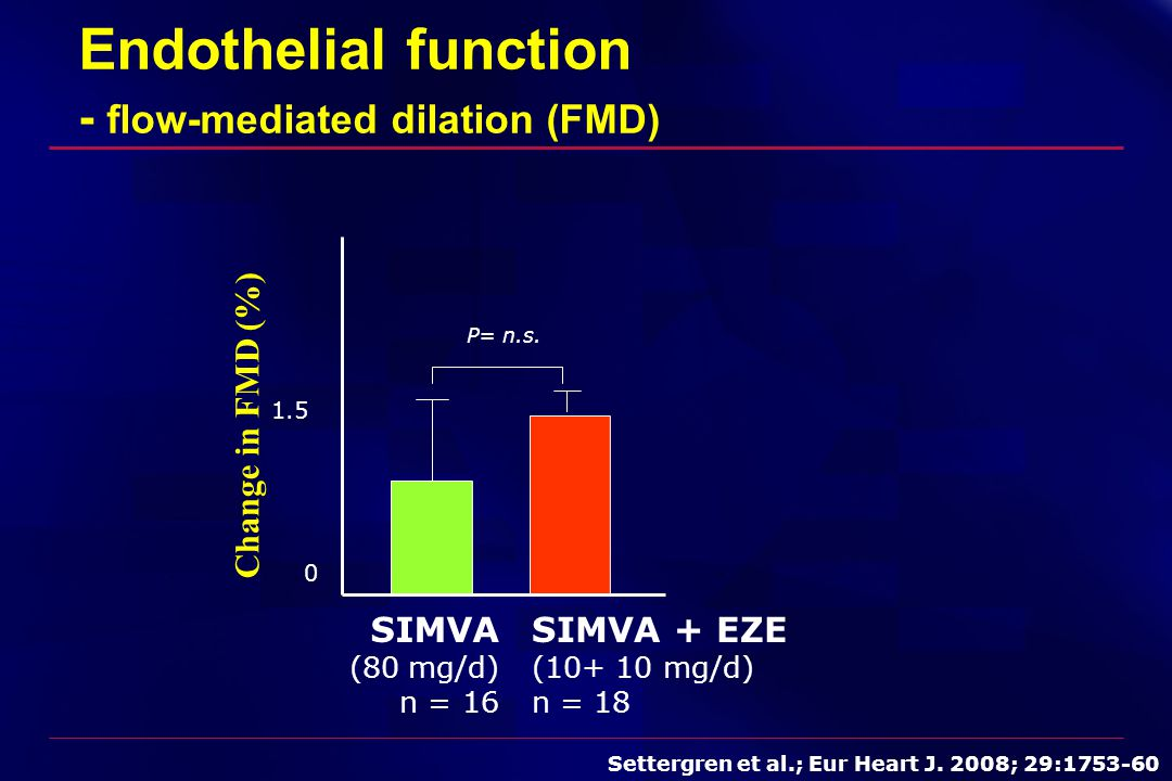Endothelial function - flow-mediated dilation (FMD)