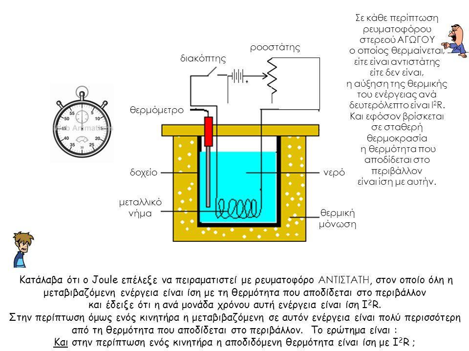 και έδειξε ότι η ανά μονάδα χρόνου αυτή ενέργεια είναι ίση Ι2R.