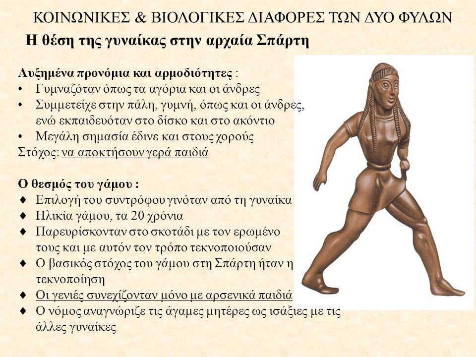 Η θέση της γυναίκας στην αρχαία Σπάρτη