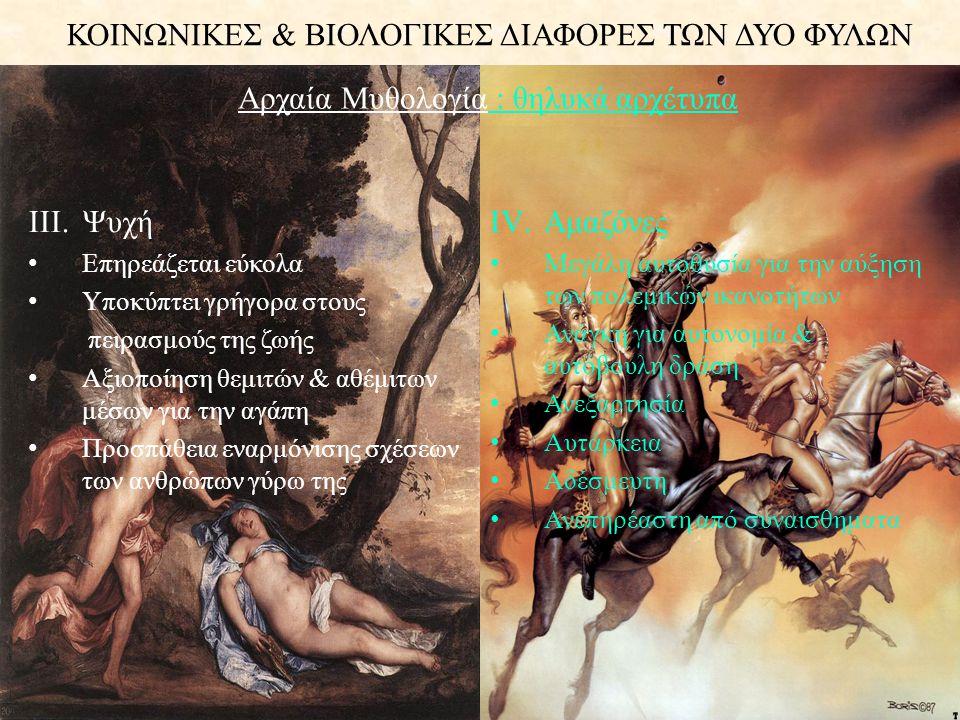 Αρχαία Μυθολογία : θηλυκά αρχέτυπα
