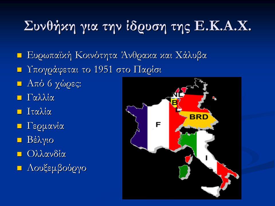 Συνθήκη για την ίδρυση της Ε.Κ.Α.Χ.