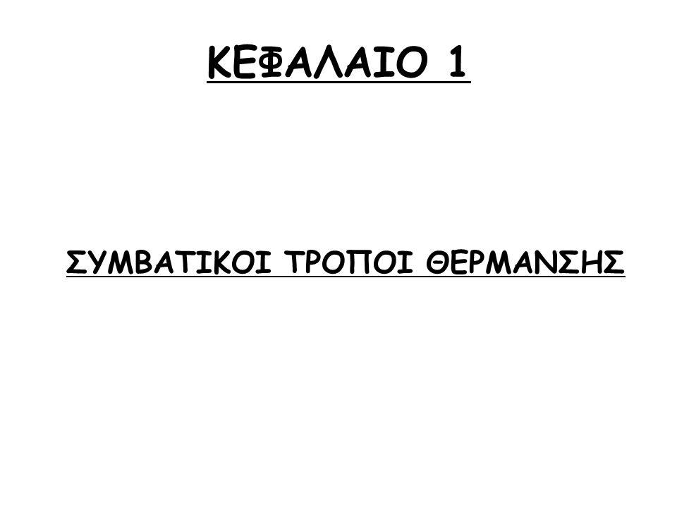 ΚΕΦΑΛΑΙΟ 1 ΣΥΜΒΑΤΙΚΟΙ ΤΡΟΠΟΙ ΘΕΡΜΑΝΣΗΣ