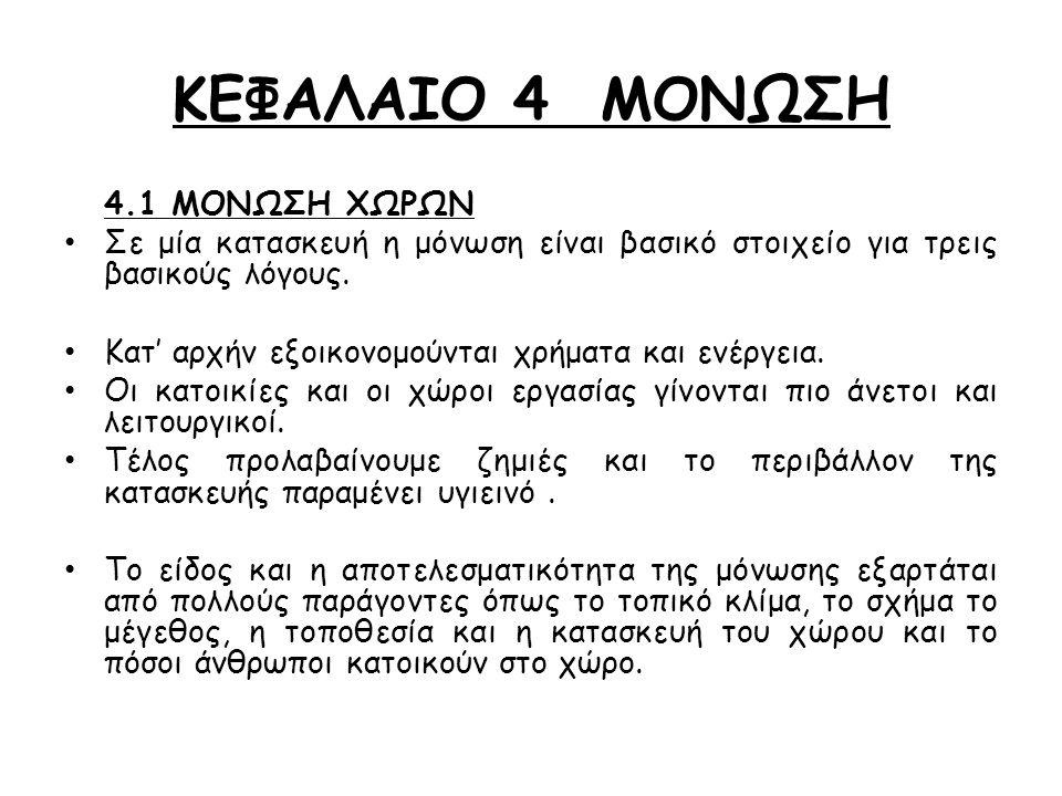 ΚΕΦΑΛΑΙΟ 4 ΜΟΝΩΣΗ 4.1 ΜΟΝΩΣΗ ΧΩΡΩΝ