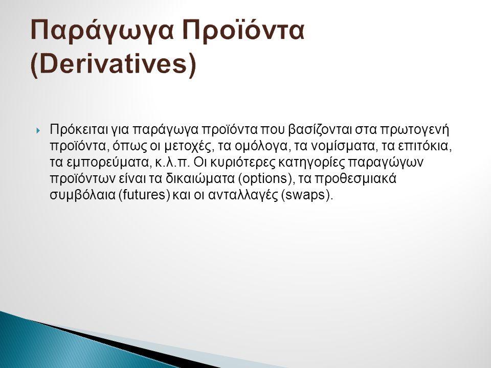 Παράγωγα Προϊόντα (Derivatives)