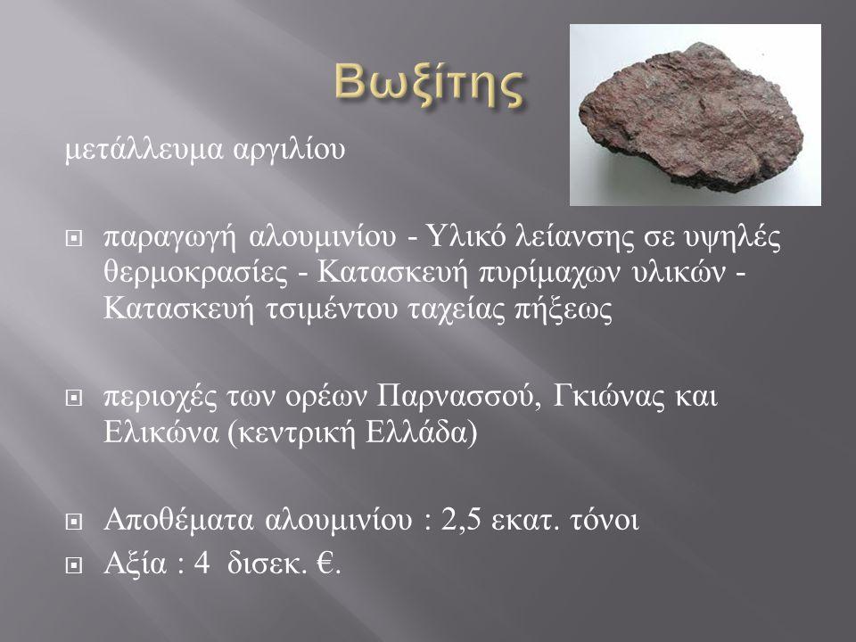 Βωξίτης μετάλλευμα αργιλίου