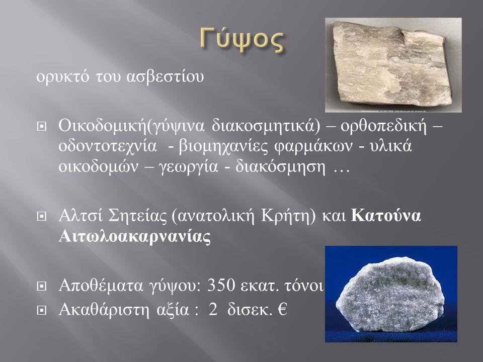 Γύψος ορυκτό του ασβεστίου