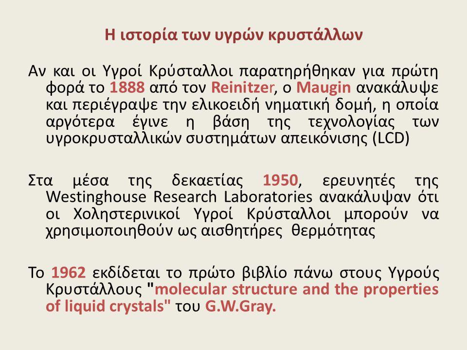 Η ιστορία των υγρών κρυστάλλων