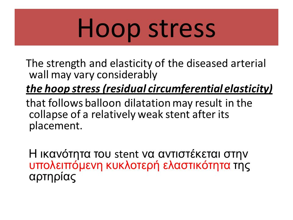 Hoop stress