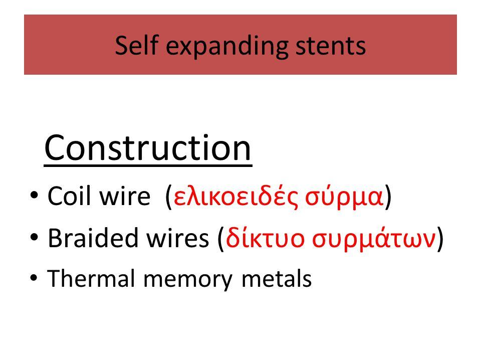 Coil wire (ελικοειδές σύρμα) Braided wires (δίκτυο συρμάτων)