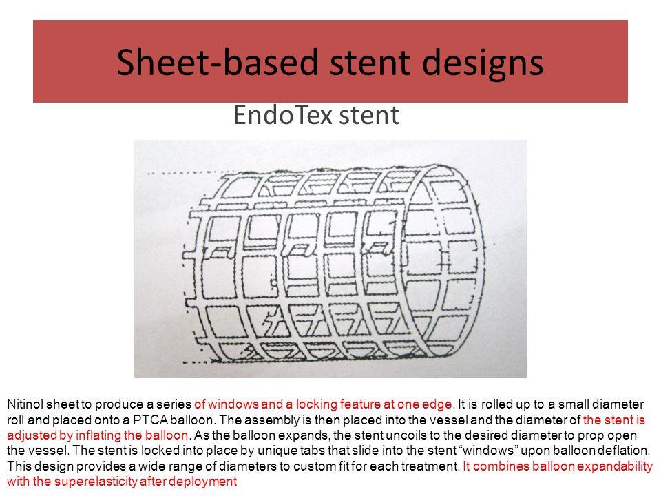 Sheet-based stent designs