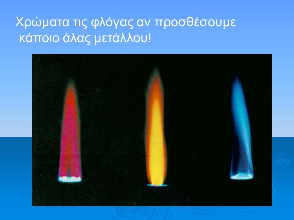 Χρώματα τις φλόγας αν προσθέσουμε