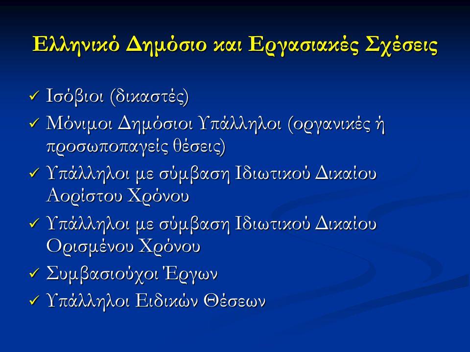 Ελληνικό Δημόσιο και Εργασιακές Σχέσεις